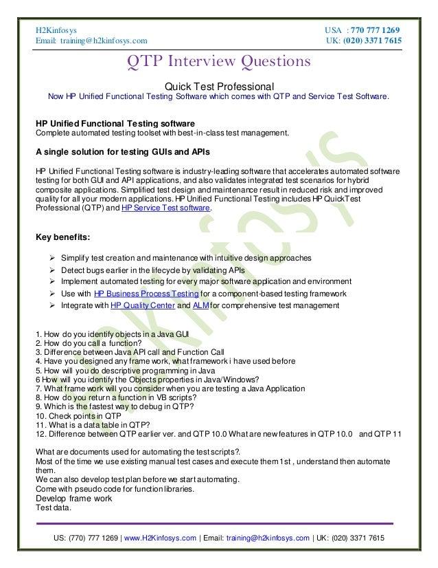 QTP Interview Questions 2012