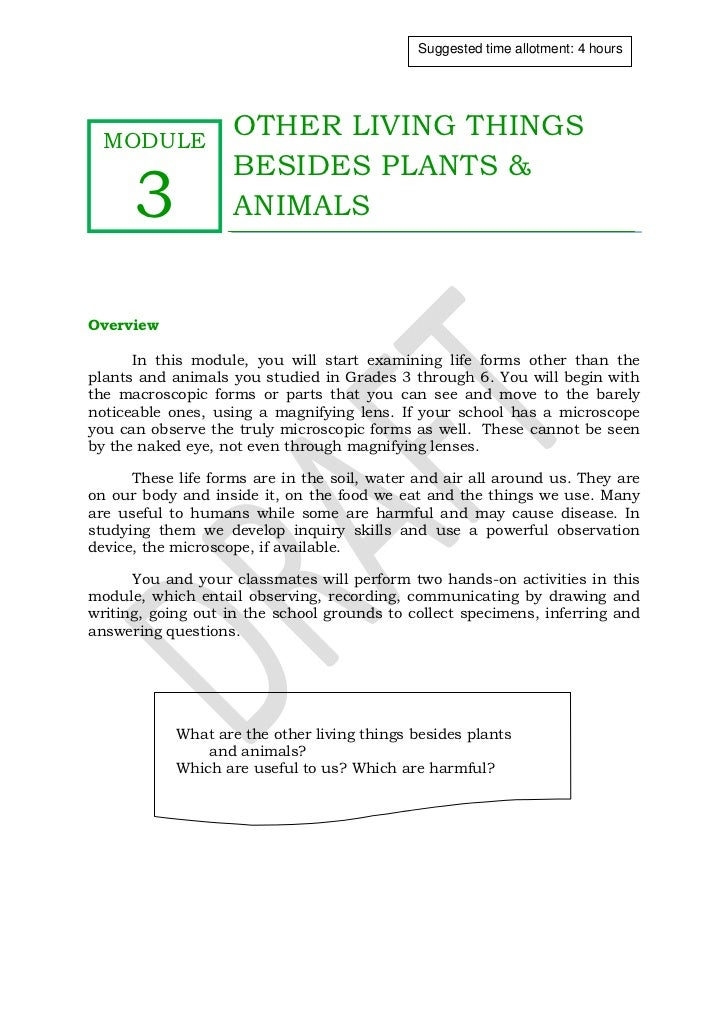 Qtr 2 module 3 other living things besides plants and animals