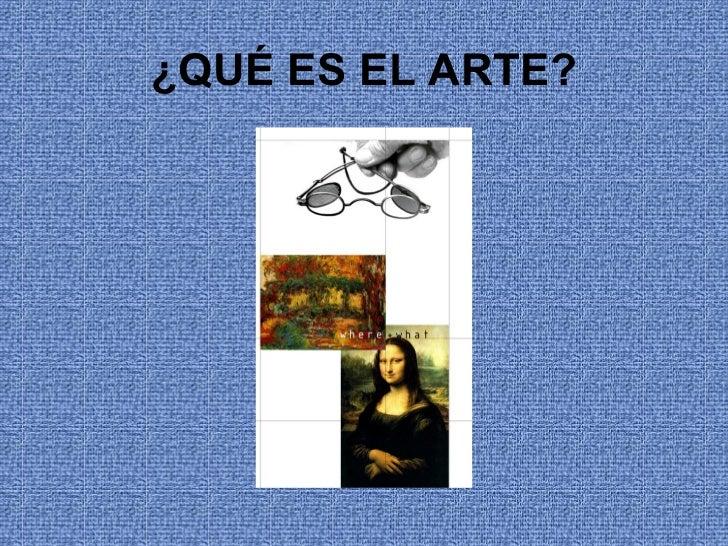 Qué es el arte