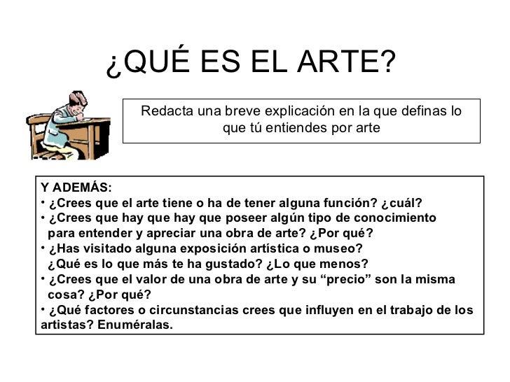 Qu Es El Arte Tom S P Rez Molina