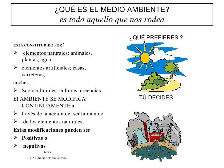 ¿QUÉ ES EL MEDIO AMBIENTE? es todo aquello que nos rodea <ul><li>ESTÁ CONSTITUDIDO POR : </li></ul><ul><li>elementos natur...