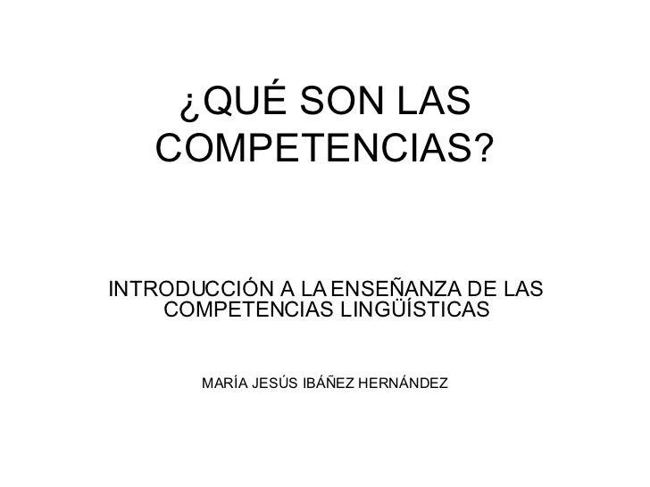 Qué Son Las Competencias