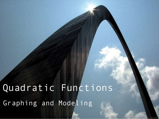 Quadratic FunctionsGraphing and Modeling