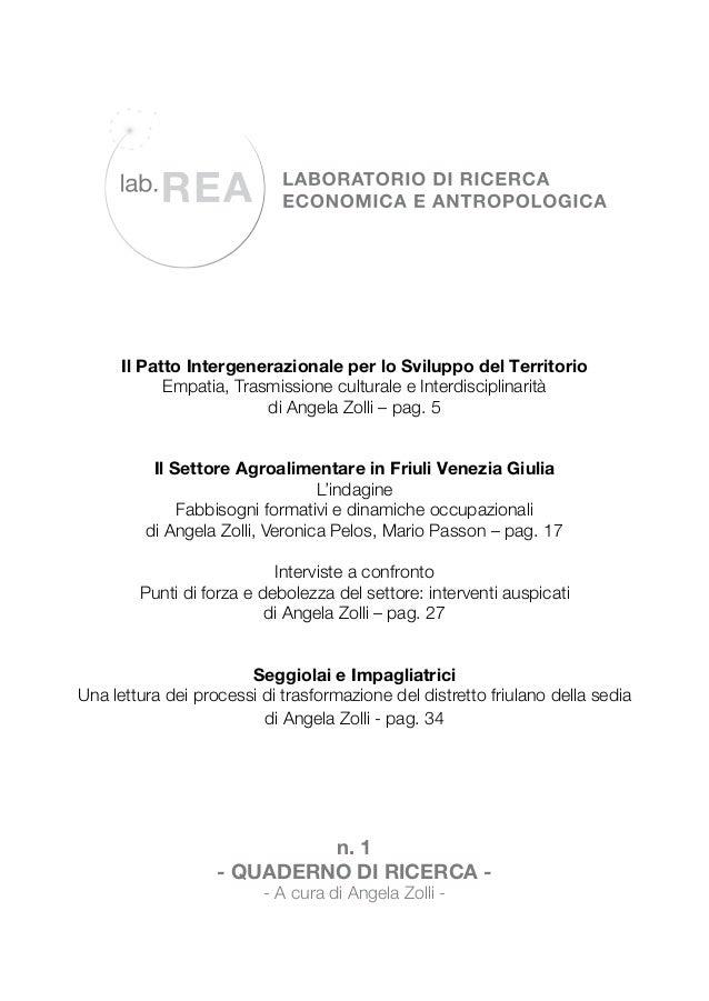 Il Patto Intergenerazionale per lo Sviluppo del Territorio Empatia, Trasmissione culturale e Interdisciplinarità di Angela...