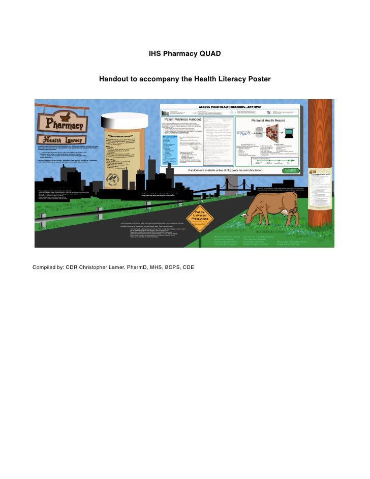 IHS Pharmacy QUAD                          Handout to accompany the Health Literacy Poster     Compiled by: CDR Christophe...