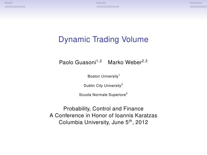 Dynamic Trading Volume