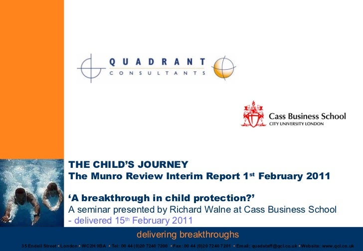 THE CHILD'S JOURNEY The Munro Review Interim Report 1st