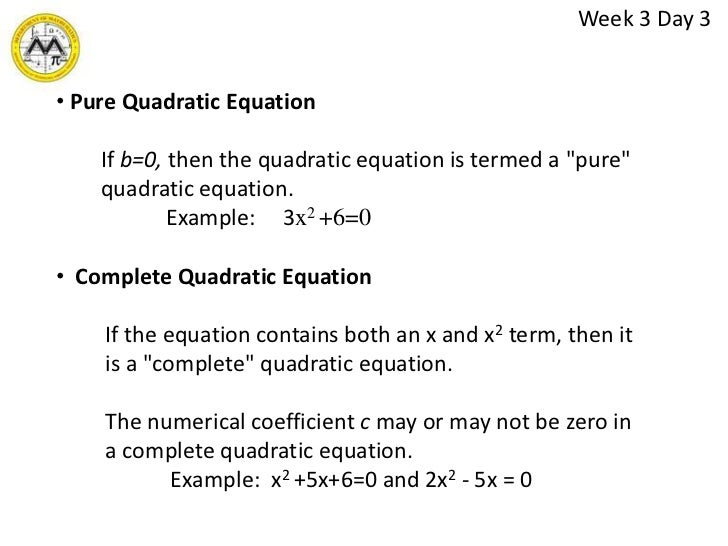 quadratics essay 3 Pythagorean quadratic mat 221: introduction to algebra pythagorean quadratic the pythagorean theorem was termed after pythagoras, who was a well-known greek philosopher and mathematician, and the pythagorean theorem is one of the first theorems identified in ancient civilizations.