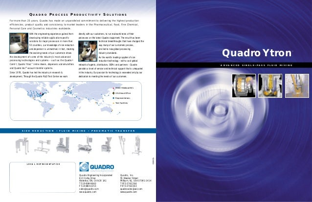 Q UA D R O P R O C E S S P R O D U C T I V I T Y S O L U T I O N S For more than 25 years, Quadro has made an unparalleled...