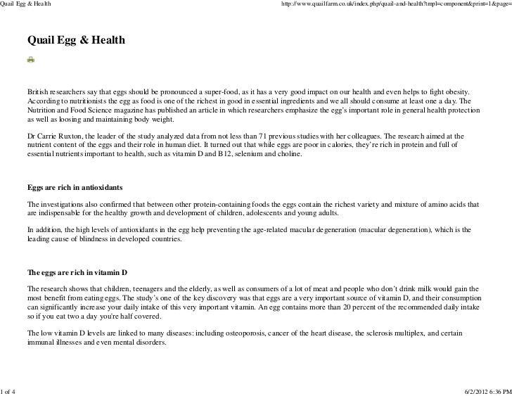 Quail Egg & Health                                                                            http://www.quailfarm.co.uk/i...
