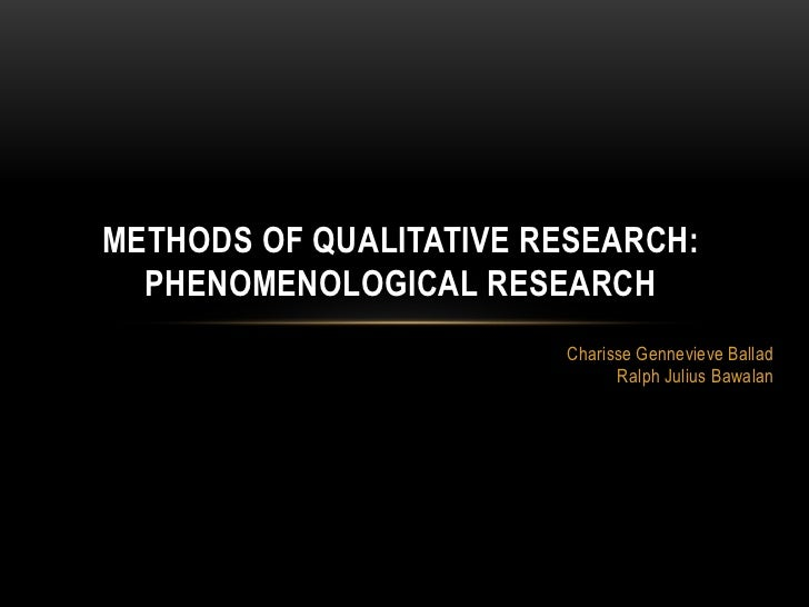 Phenomenology research definition