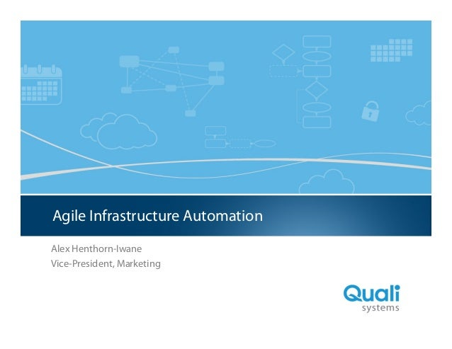 Agile Infrastructure Automation Presentation to Wall Street Technology Association (WSTA)