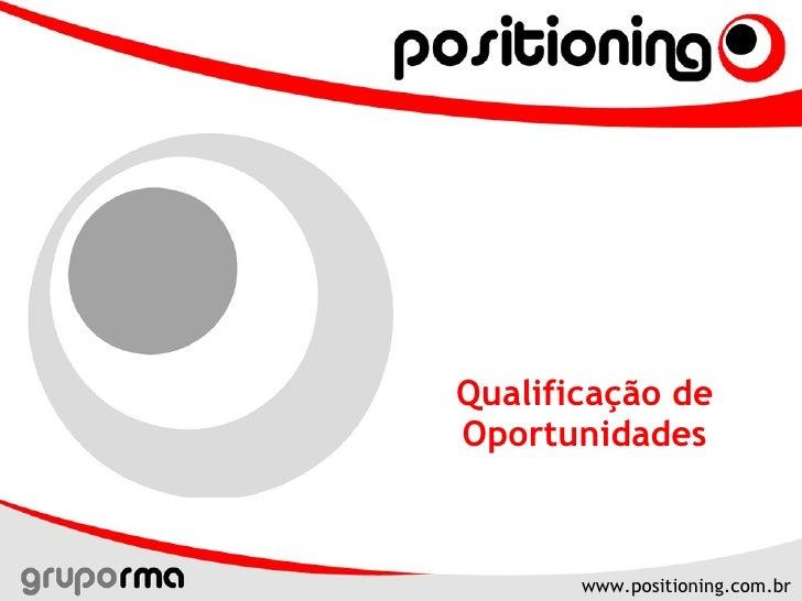 Qualificação de Oportunidades
