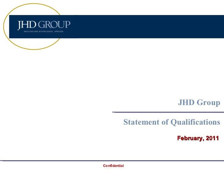 JHDG Qualifications