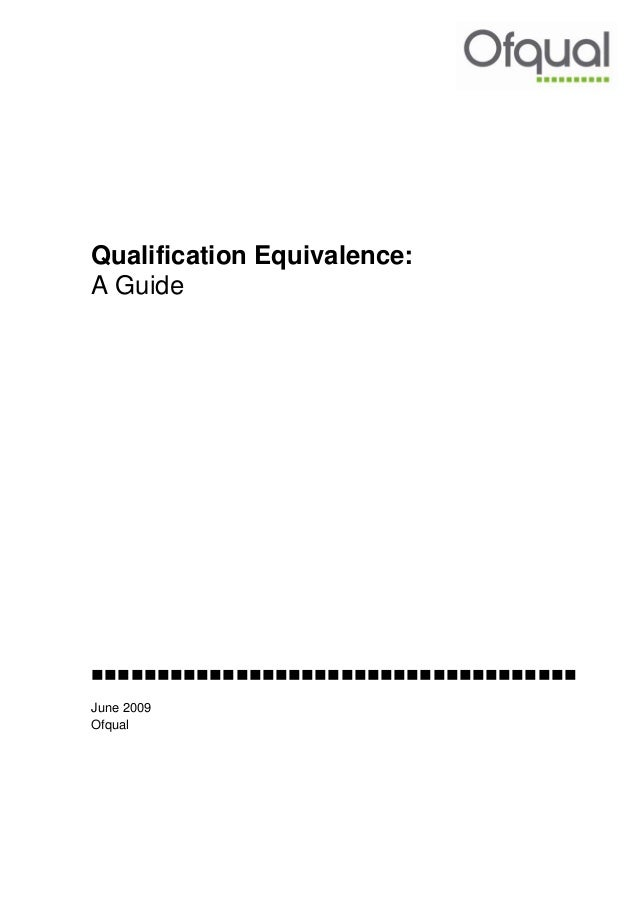 Qualification Equivalence Guide - NVQ, QCF, Apprenticeships