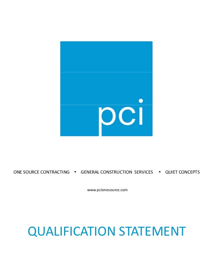 Qualification Statement 1 15 10