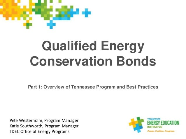 Qualified Energy Conservation Bonds Part 1: Overview of Tennessee Program and Best Practices Pete Westerholm, Program Mana...