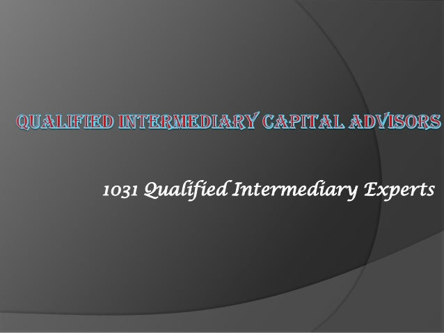how to become a qualified intermediary
