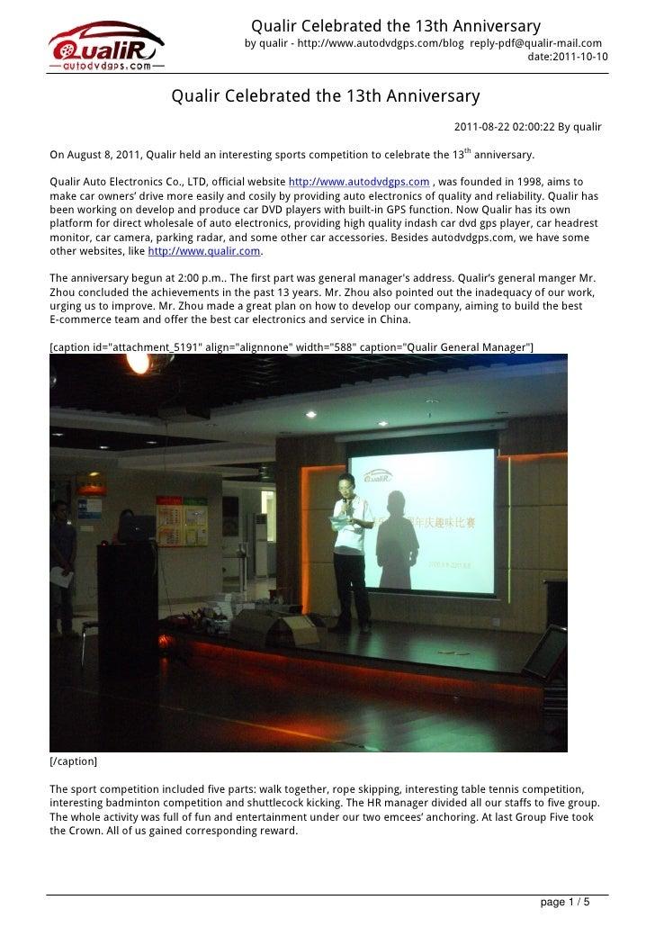 Qualir celebrated-the-13th-anniversary