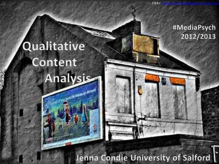 Qualitative content analysis in Media Psychology