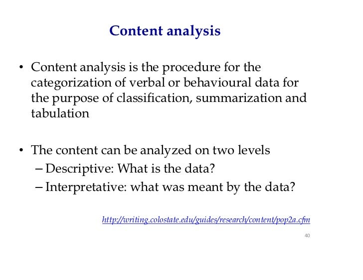 Content analysis dissertation example