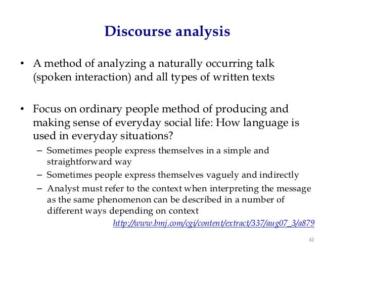 How much to text to analyse in a discourse analysis?