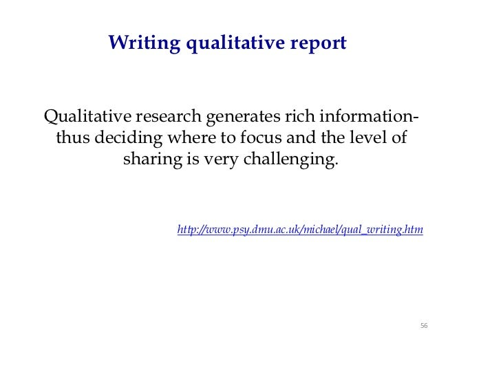 qualitative report writing Accident and emergency nursing (2004) 12, 176–181 accident and emergency nursing wwwelsevierhealthcom/journals/aaen writing a qualitative research reportq.