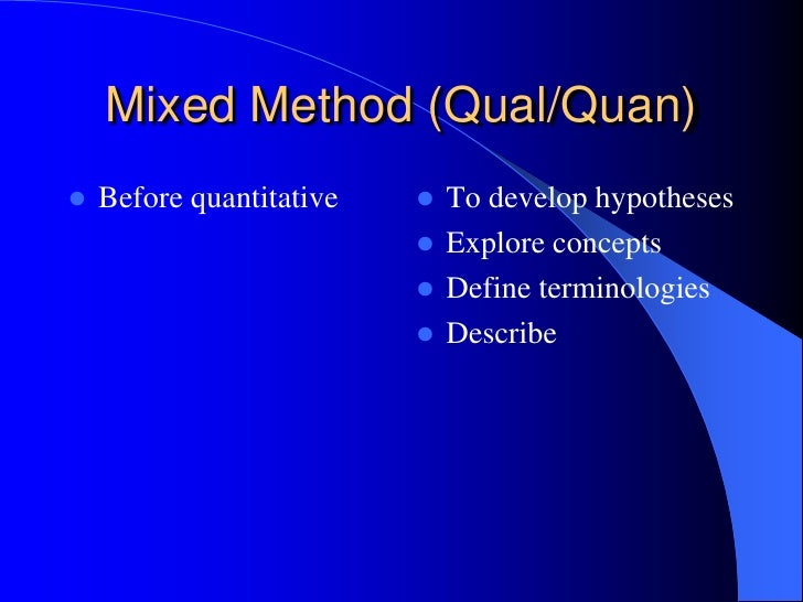 strength of quantitative research The strengths and weaknesses of quantitative and qualitative research: what method for nursing.