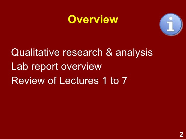 overview of qualitative research essay