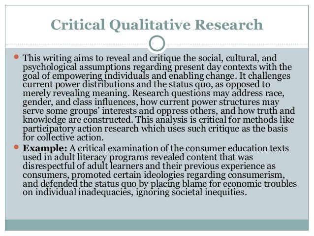 Research critique essay