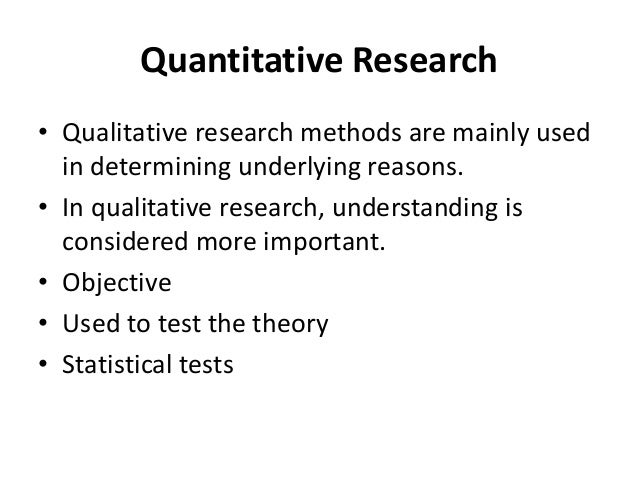 Difference between qualitative and quantitative research methods