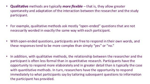 Research methods qualitative