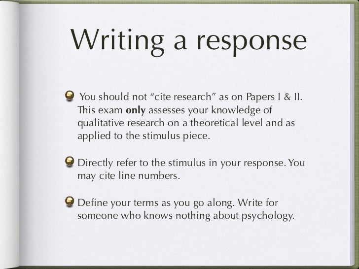 how to write an abstract for a qualitative research paper This paper offers a format for writing a qualitative research report for publication [show full abstract.