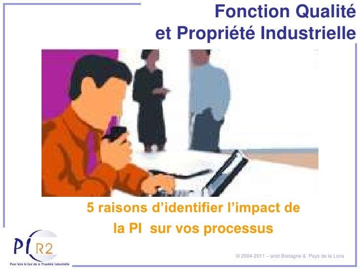 Fonction Qualité          et Propriété Industrielle5 raisons d'identifier l'impact de    la PI sur vos processus          ...
