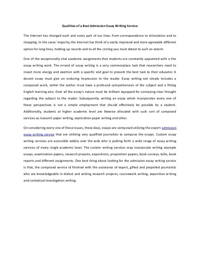 Best admission essay