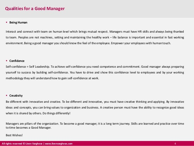 qualities of a manager What makes human resource managers successful is it their expertise in aspects of human resources or problem solving skills or communication skills or any other in my view, below are the qualities and characteristics of successful human resource managers: knowledge and expertise in human resources.