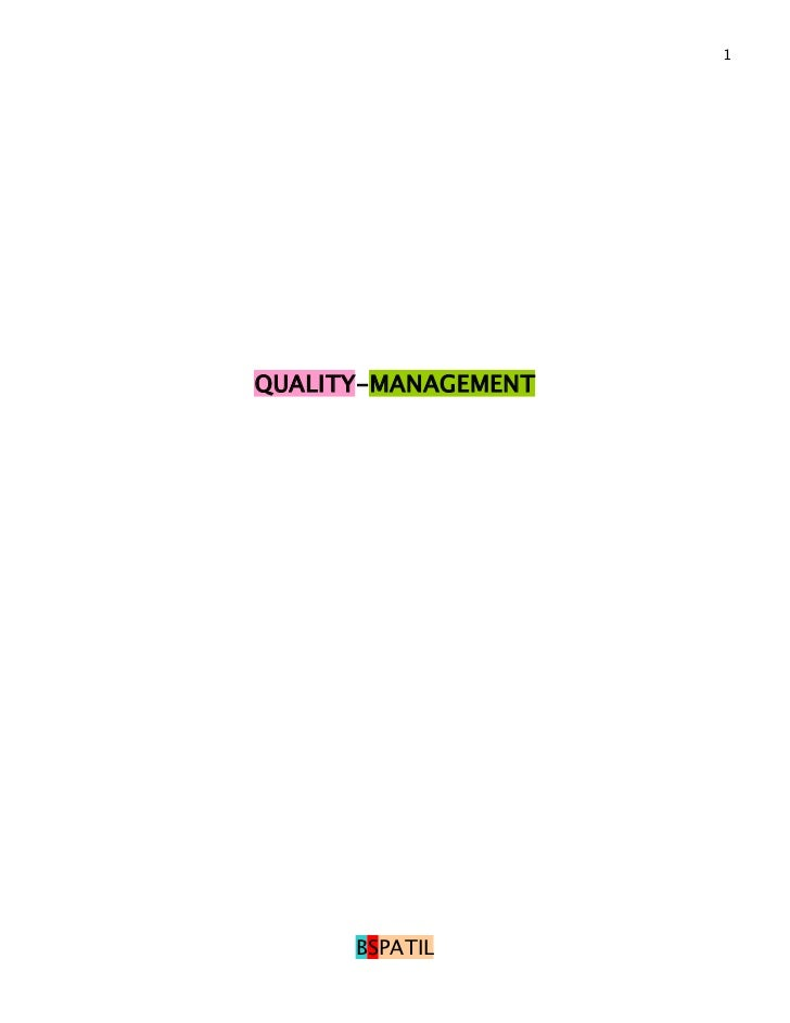 1QUALITY-MANAGEMENT      BSPATIL