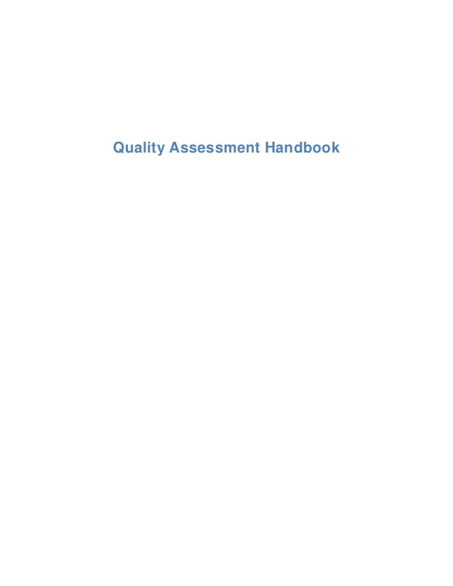Quality Assessment Handbook