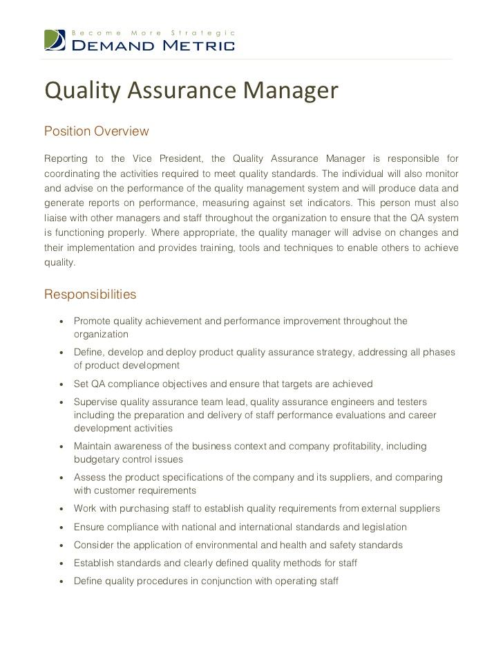 Purchasing Supervisor Job Description 27.04.2017