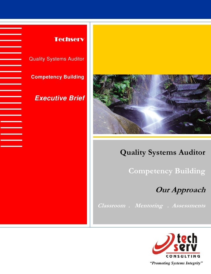Techserv   Quality Systems Auditor   Competency Building      Executive Brief                                      Quality...
