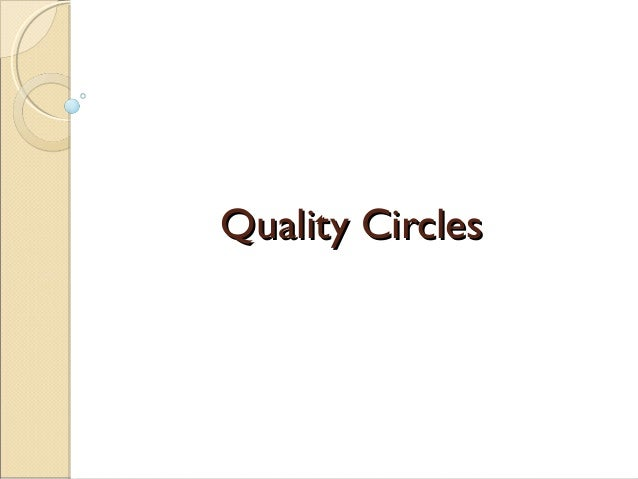Quality Circles,HR, MBA, Organization,