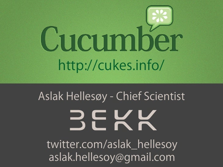 Quality Code With Cucumber Presentation