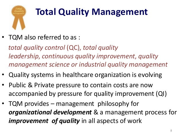 phd thesis on total quality management Research topic (proposal idea) for a phd in in total quality management as it relates to a phd topic is looking at, what is the thesis.