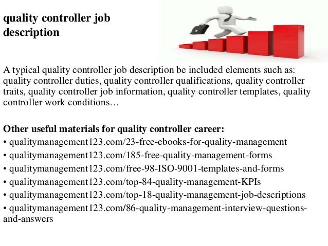 Quality Control Duties 25.07.2017