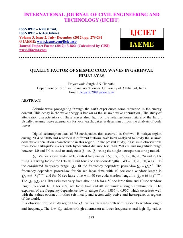 International Journal of Civil Engineering and OF CIVIL ENGINEERING AND   INTERNATIONAL JOURNAL Technology (IJCIET), ISSN ...