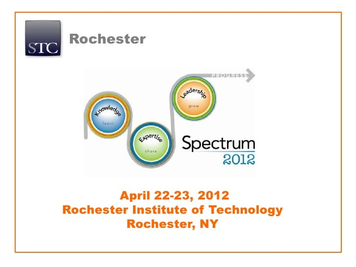 Rochester        April 22-23, 2012Rochester Institute of Technology         Rochester, NY