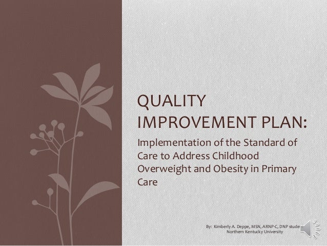 Implementation of the Standard of Care to Address Childhood Overweight and Obesity in Primary Care QUALITY IMPROVEMENT PLA...