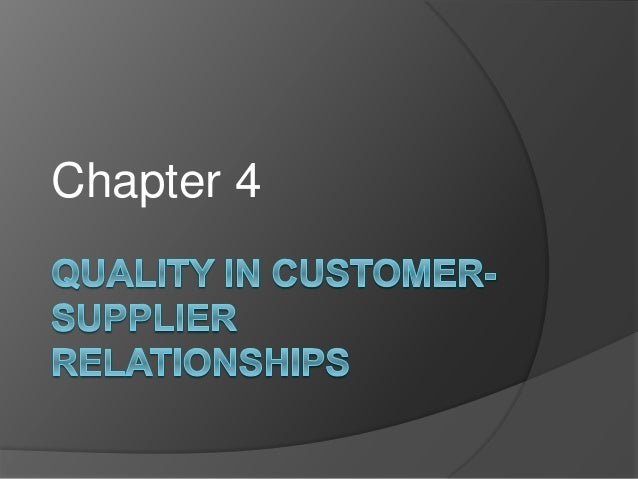 consumer and supplier relationships The many benefits of supply chain collaboration  the best supply chains have buyer-supplier relationships  but many point to the average consumer's .
