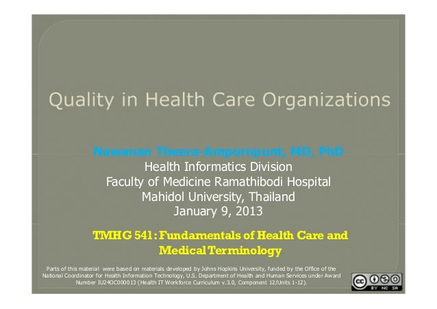Quality in Healthcare Organizations