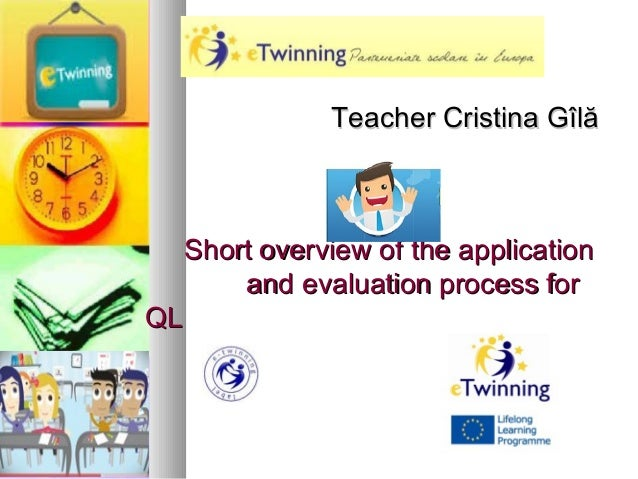 Short overview of the applicationShort overview of the applicationand evaluation process forand evaluation process forQLQL...